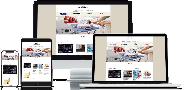 Realizare site web Delonghi ofical store