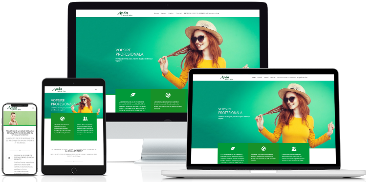 Salon Anda Web design