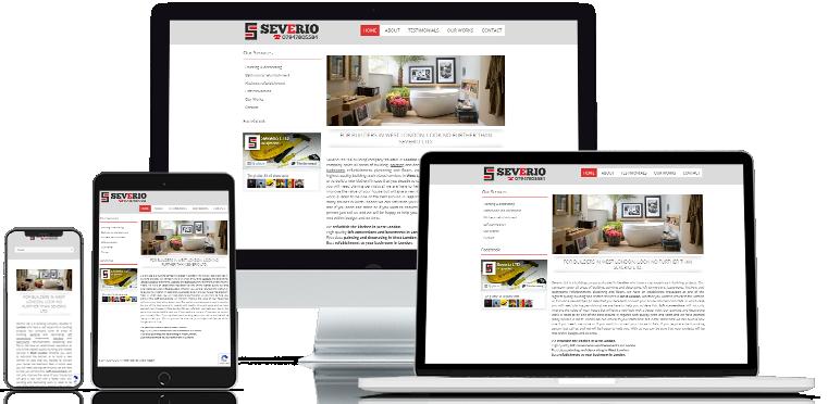 Webdesign site Severio London